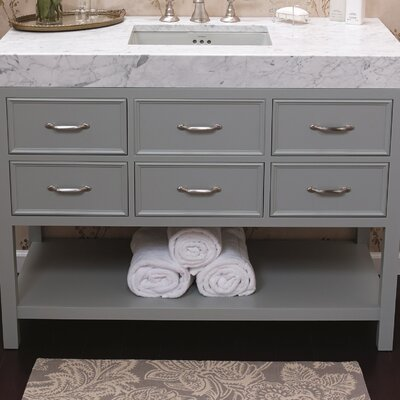 Newcastle 48 Single Bathroom Vanity Base Base Finish: Ocean Gray