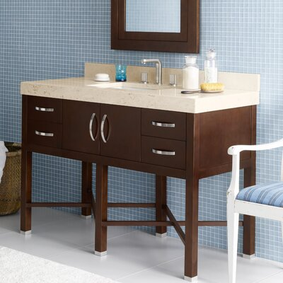 Haley 48 Single Bathroom Vanity Set with Mirror