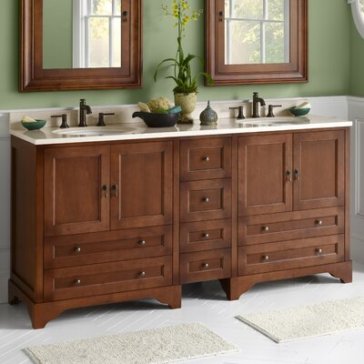 Milano 72 Double Bathroom Vanity Set