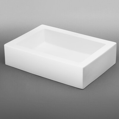 Format Ceramic Rectangular Vessel Bathroom Sink