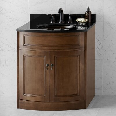 Marcello 30 Bathroom Vanity Cabinet Base in Caf� Walnut