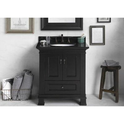 Traditions Venice Wood Antique Style Black Vanity Base