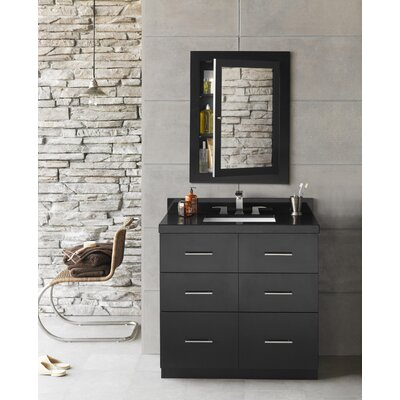 Lassen 36 Single Bathroom Vanity Set with Mirror
