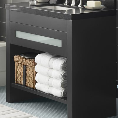 Kendra 36 Single Bathroom Vanity Base Finish: Black