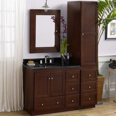 Shaker 36 Single Bathroom Vanity Set with Mirror
