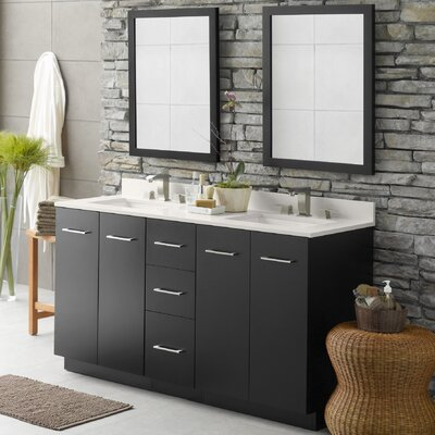 Arden 60 Double Bathroom Vanity Set with Mirror