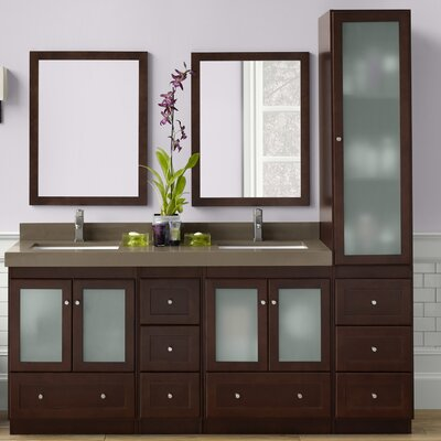 Shaker 60 Double Bathroom Vanity Set with Mirror