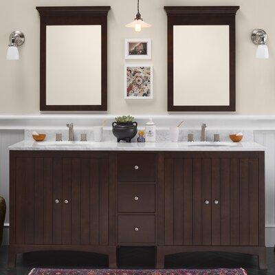 Hampton 72 Double Bathroom Vanity Set with Mirror