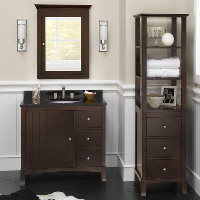 Hampton 36 Single Bathroom Vanity Set with Mirror