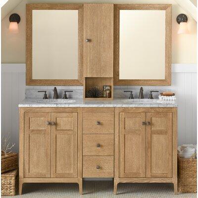 Briella 60 Double Bathroom Vanity Set with Mirror
