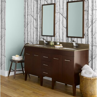 Venus 58 Double Bathroom Vanity Set with Mirror