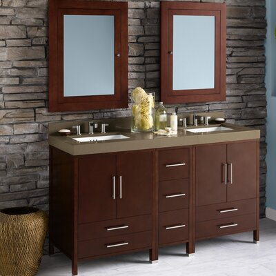 Juno 61 Double Bathroom Vanity Set with Mirror