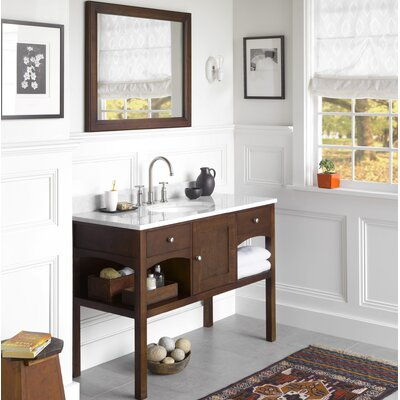 Langley 48 Single Bathroom Vanity Set with Mirror