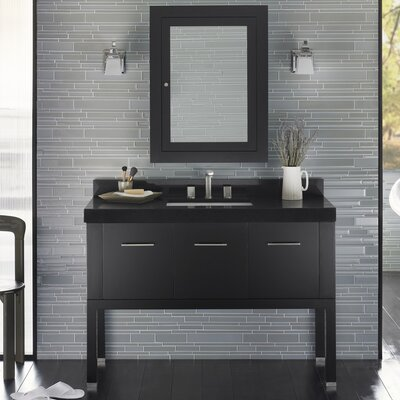 Calabria 48 Single Bathroom Vanity Set with Mirror