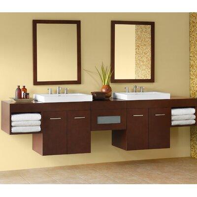 Bella 94 Double Bathroom Vanity Set with Mirror
