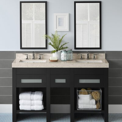 Kendra 58 Double Bathroom Vanity Set with Miror