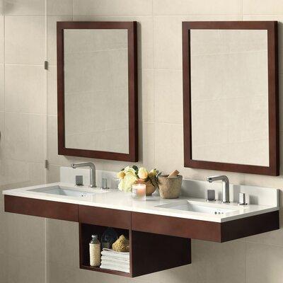 Adina 61 Double Bathroom Vanity Set with Mirror