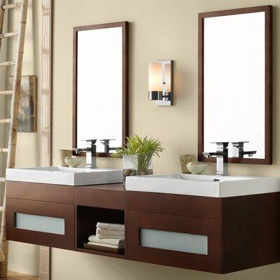 Rebecca 61 Double Bathroom Vanity Set with Mirror