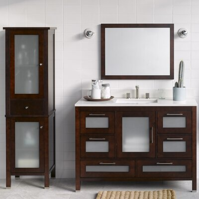 Athena 48 Single Bathroom Vanity Set with Mirror