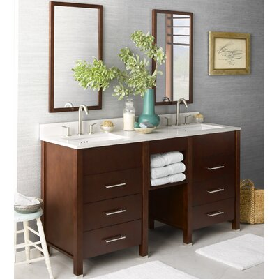 Kali 61 Double Bathroom Vanity Set with Mirror