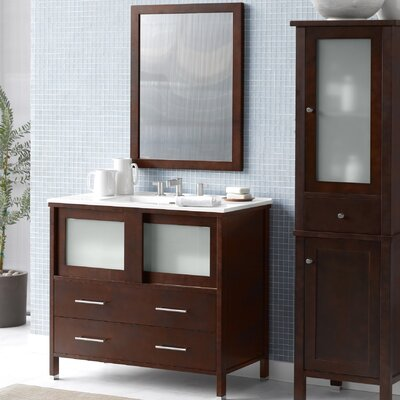 Minerva 36 Single Bathroom Vanity Set with Mirror