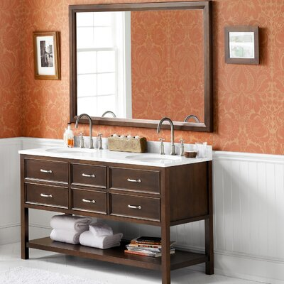 Newcastle 60 Double Bathroom Vanity Set with Mirror