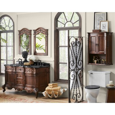 Bordeaux 60 Double Bathroom Vanity Set with Mirror