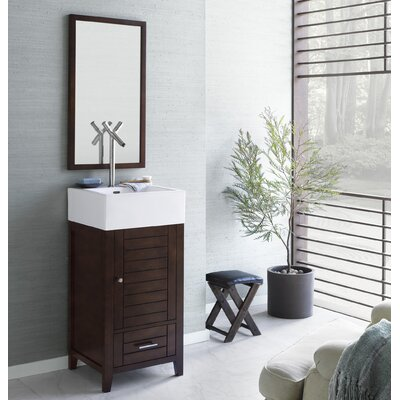 Elise 18 Single Bathroom Vanity Set with Mirror