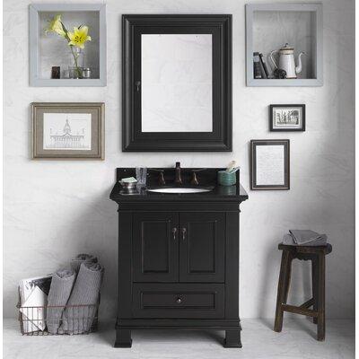 Venice 30 Single Bathroom Vanity Set with Mirror