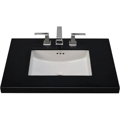 Newcastle Ceramic Rectangular Undermount Bathroom Sink with Overflow