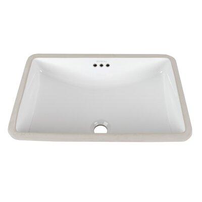 Restyle Ceramic Rectangular Undermount Bathroom Sink with Overflow Sink Finish: White