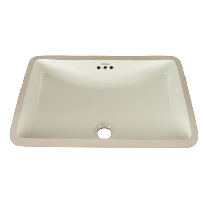 Restyle Ceramic Rectangular Undermount Bathroom Sink with Overflow