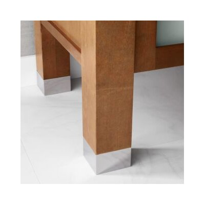 2 Metal Feet for the Devon Bathroom Vanity Collection Finish: Polished Chrome
