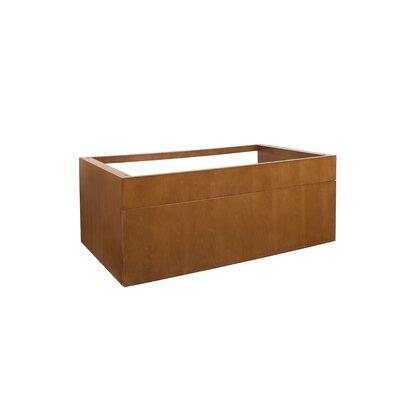 Morrison 36 Wall Mount Bathroom Vanity Base Cabinet in Cinnamon