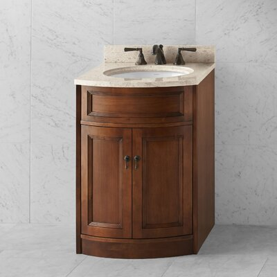 Marcello 24 Double Bathroom Vanity Base Base Finish: Caf� Walnut