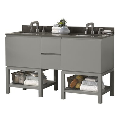 Jenna 60 Double Bathroom Vanity Set