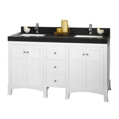 Hampton 61 Double Bathroom Vanity Set