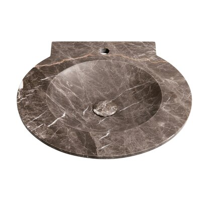 Waterspace Stone Circular Drop-In Bathroom Sink