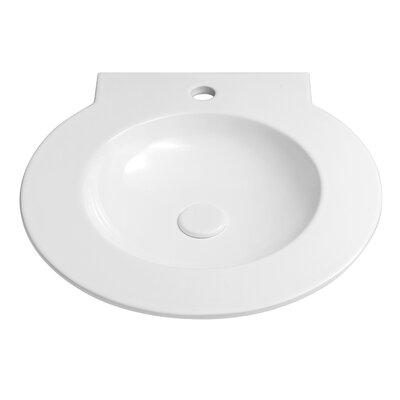 Waterspace Ceramic Circular Drop-In Bathroom Sink