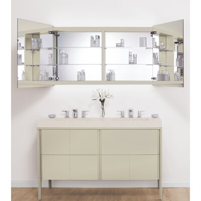 "Signature Series Brit LED Mirror 53"" W x 28"" H Wall Mounted Cabinet E025615-E40"