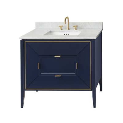Amora 30 Single Bathroom Vanity Base Base Finish: Navy
