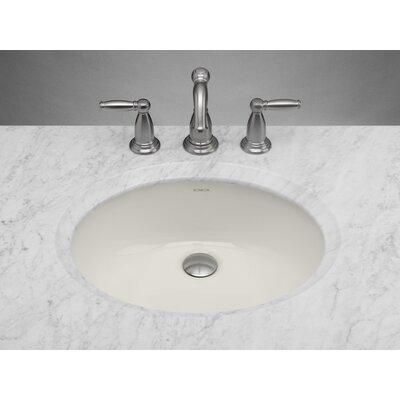 Ceramic Oval Undermount Bathroom Sink with Overflow 8