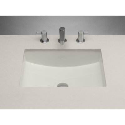 Ceramic Rectangular Undermount Bathroom Sink with Overflow Sink Finish: Biscuit