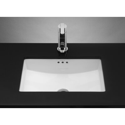 Rectangle Ceramic Undermount Sink with Overflow