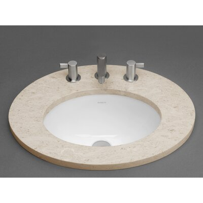 Ceramic Oval Undermount Bathroom Sink with Overflow