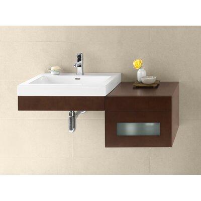 Adina 23 Wall Mount Bathroom Vanity Base Cabinet in Dark Cherry
