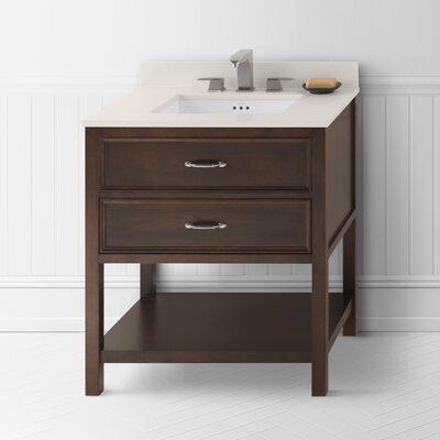 Newcastle 30 Bathroom Vanity Cabinet Base in Caf� Walnut