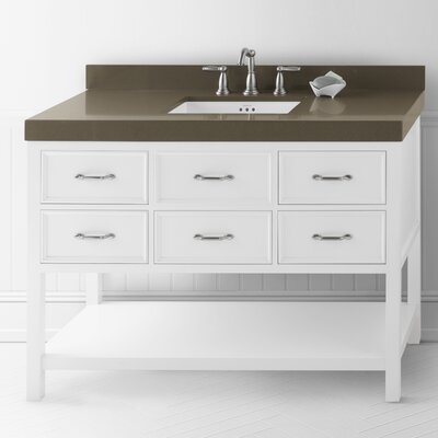 Newcastle 48 Single Bathroom Vanity Base Base Finish: White