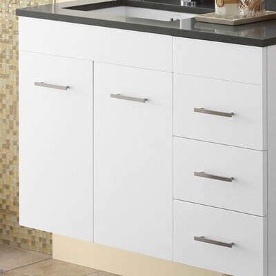 Bella 23.06 Single Bathroom Vanity Base Finish: White