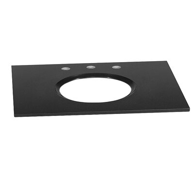 37 Single Bathroom Vanity Top Top Finish: Absolute Black
